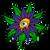Exhibas Psyquedelics Flowers Sock  EXHI-PSY