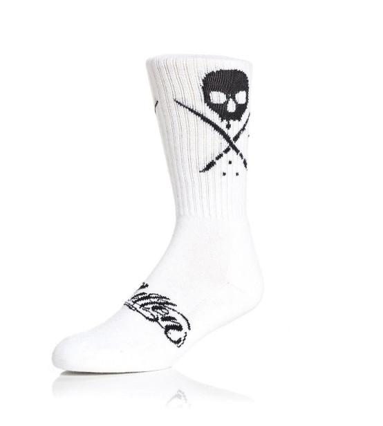 Sullen Standard Issue Socks White/Black  SOCKS-SLN-WHTBLK