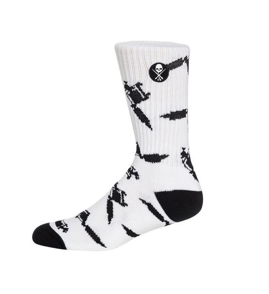 Sullen Machined Socks White