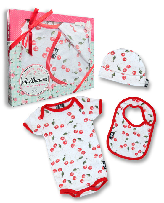 Six Bunnies Cherries Baby Gift Set  SB-SET-00001