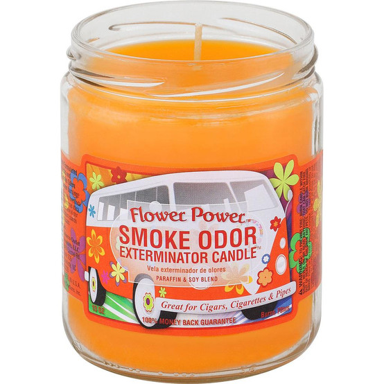 Smoke Odor Flower Power 13oz Candle