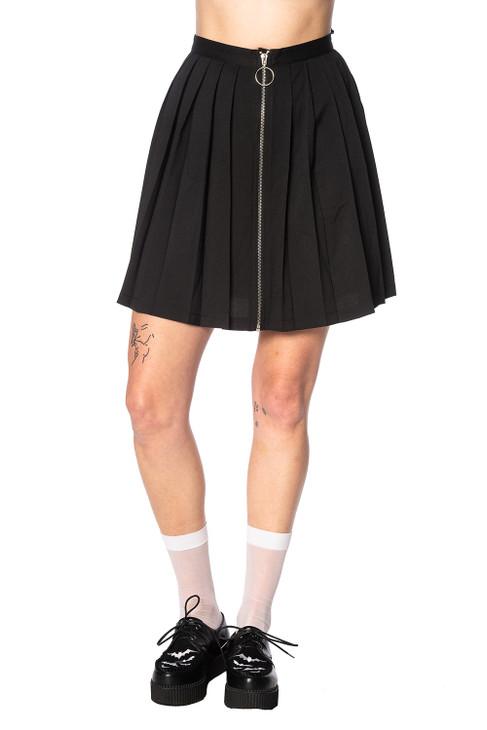Banned Urban Vamp Pleats Skirt