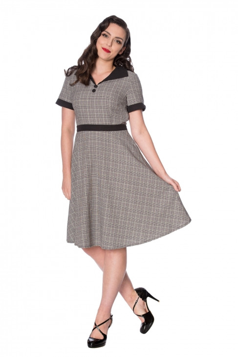 Banned Brains & Brawn Flare Dress  DR-16228