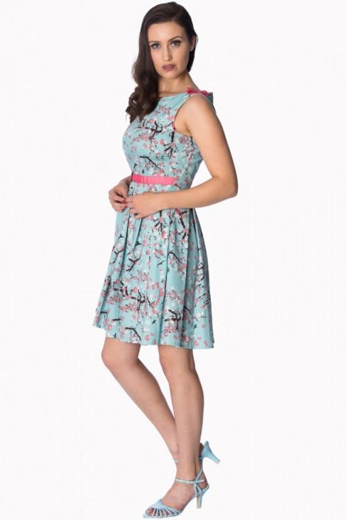 Banned Oriental Blossom Bow Shoulder Dress