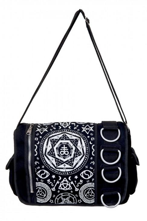 Banned Pentagram Black Messenger Bag  BBN-790