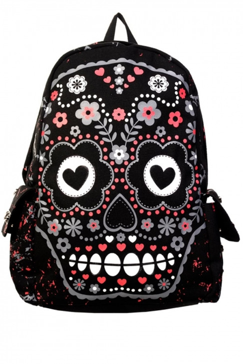 Banned Sugar Skull Backpack II  BBN-762