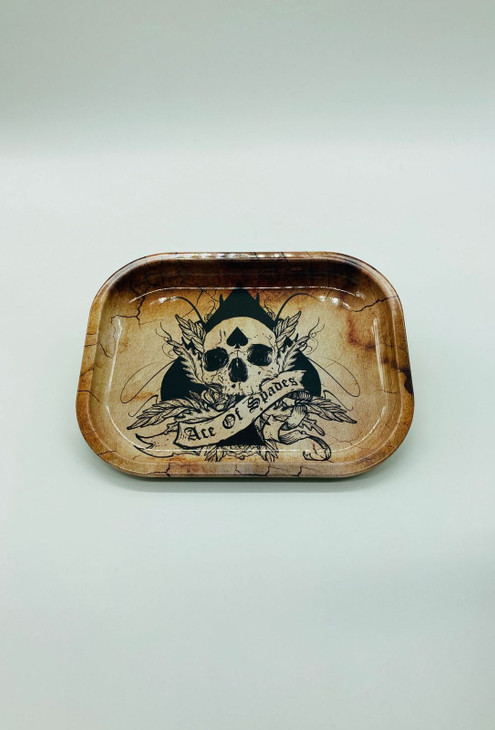 Ace of Spades Skull Rolling Tray  RT-004