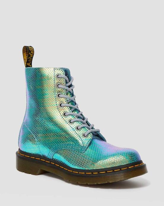 Dr. Martens 1460 Pascal Blue Iridescent Texture  DR-25143400