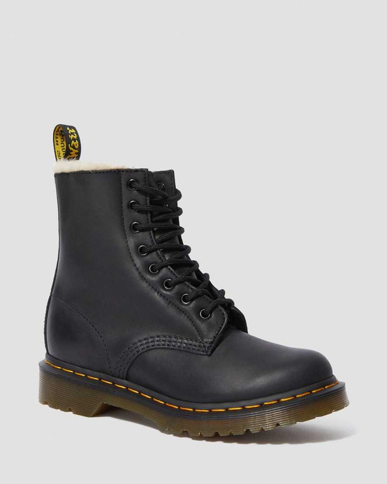 Dr. Martens 1460 Serena Black Burnished Wyoming
