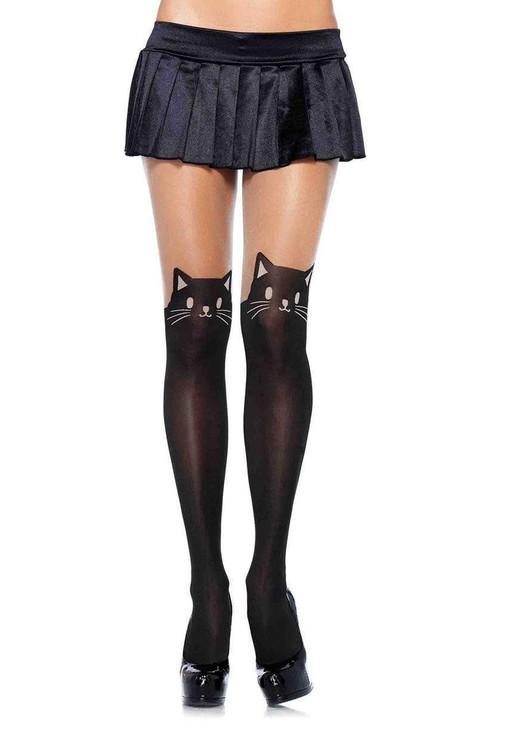 Leg Avenue Black Cat Pantyhose  LA-7908