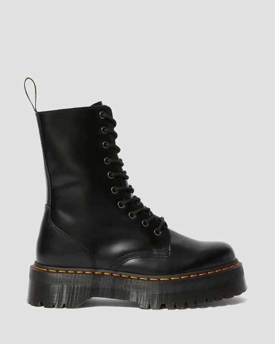 Dr. Martens Jadon HI Black Smooth Platform Boots