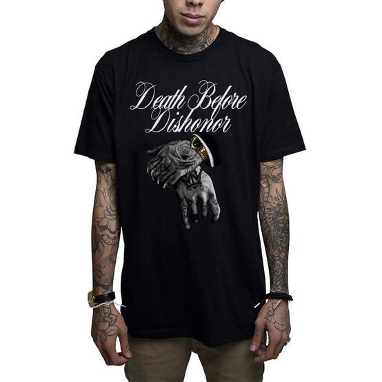 Mafioso Death B4 Dishonor Black T-Shirt