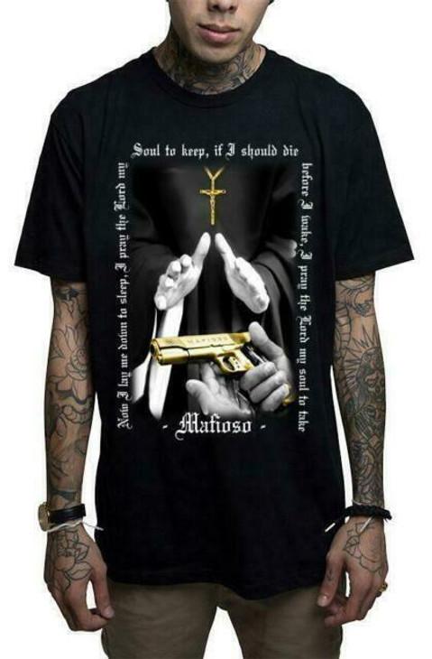 Mafioso Baptism Black T-Shirt