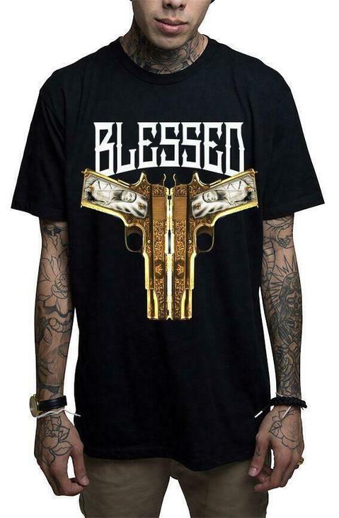 Mafioso Blessed Black T-Shirt