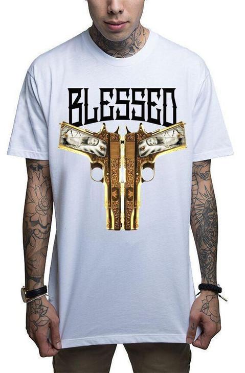 Mafioso Blessed White T-Shirt