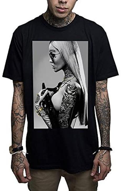 Mafioso Atomic Blonde Black T-Shirt