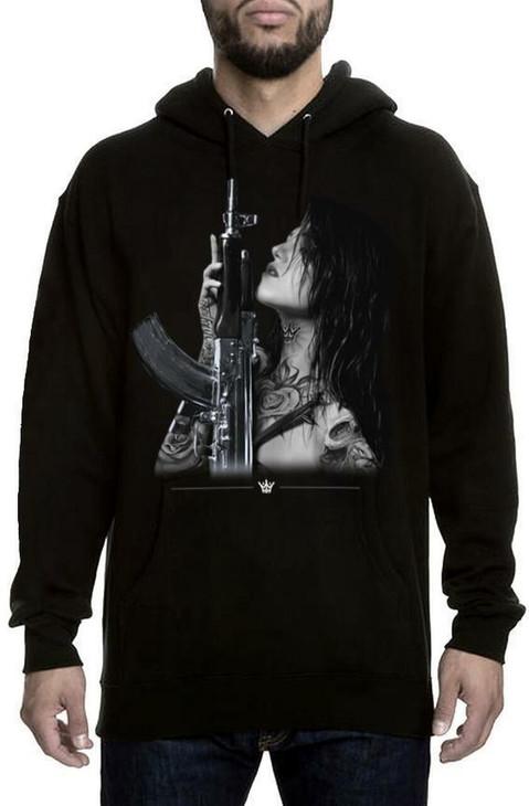 Mafioso Gun Play Black Hoodie