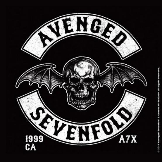 Avenged Sevenfold Single Cork Coaster Death Bat Crest  (AS-COAS-02)