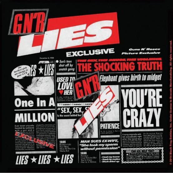 Guns N' Roses Single Cork Coaster Lies