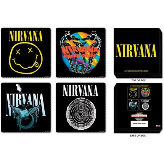 Nirvana 4 pcs Mixed Coaster Set