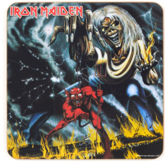 Iron Maiden Number Of The Beast Single Cork Coaster