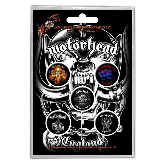 Motorhead England Button Badge Pack