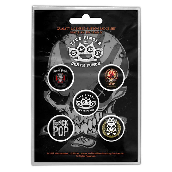 Five Finger Death Punch Logo Button Badge Pack