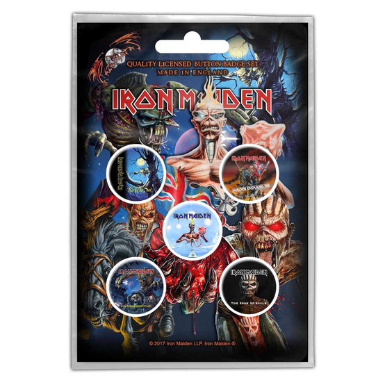 Iron Maiden Later Album Button Badge Pack