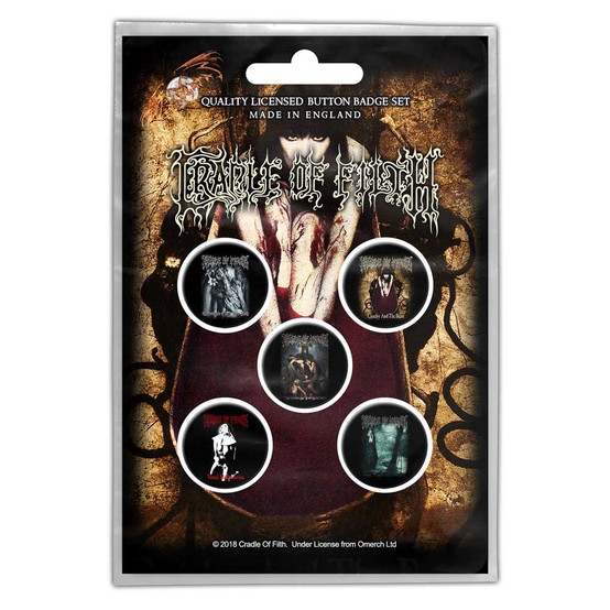 Cradle Of Filth Albums Button Badge Pack