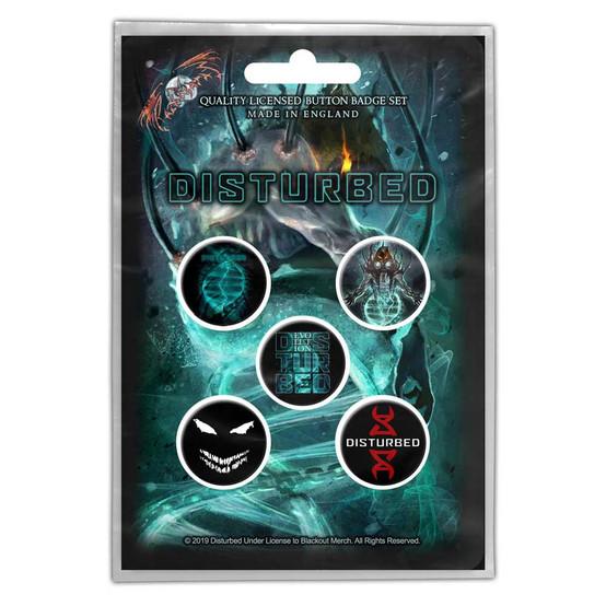 Disturbed Evolution Button Badge Pack