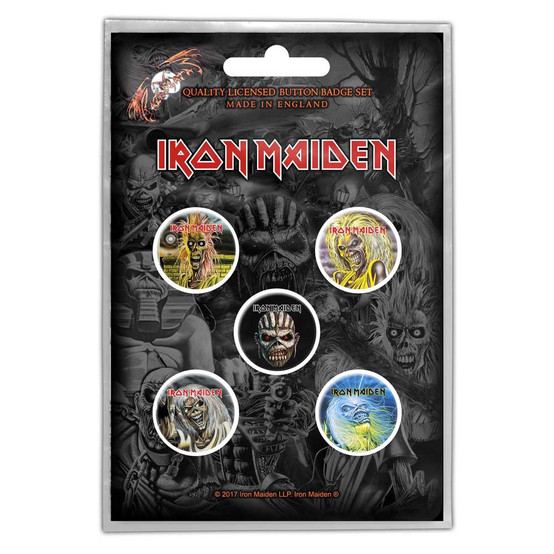 Iron Maiden The Faces Of Eddie Button Badge Pack