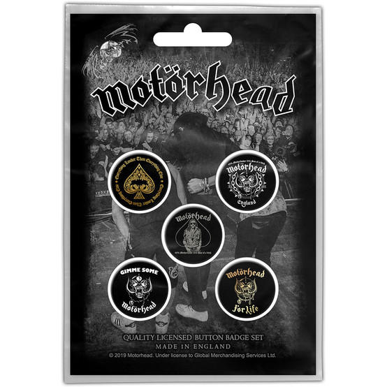 Motorhead Clean Your Clock Button Badge Pack