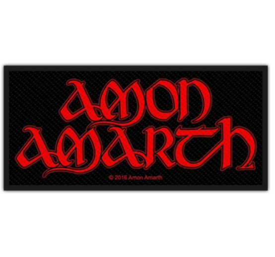 Amon Amarth Red Logo Patch  SP2854