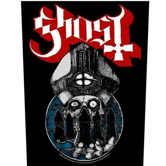 Ghost Papa Warriors Back Patch  BP1002