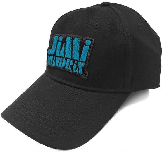 Jimi Hendrix Blue Stencil Logo Baseball Cap  JHX-CAP-01BLB