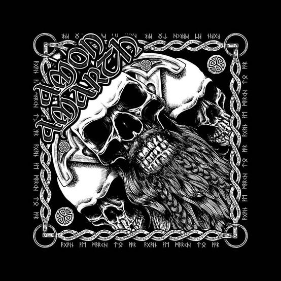 Amon Amarth Beared Skull Bandana  B034