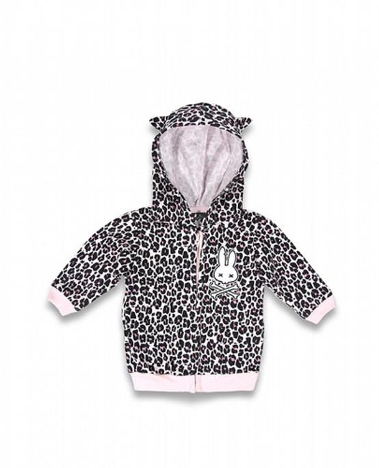 Six Bunnies Leo Pink Baby Hoodie  SB-BHD-00013-LPK