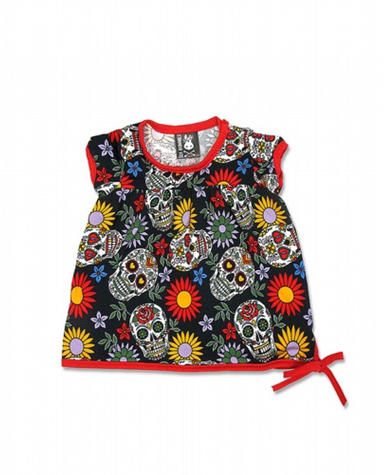 Six Bunnies Sugar Skulls Baby T-Shirt SB-BTS-00001-NCL