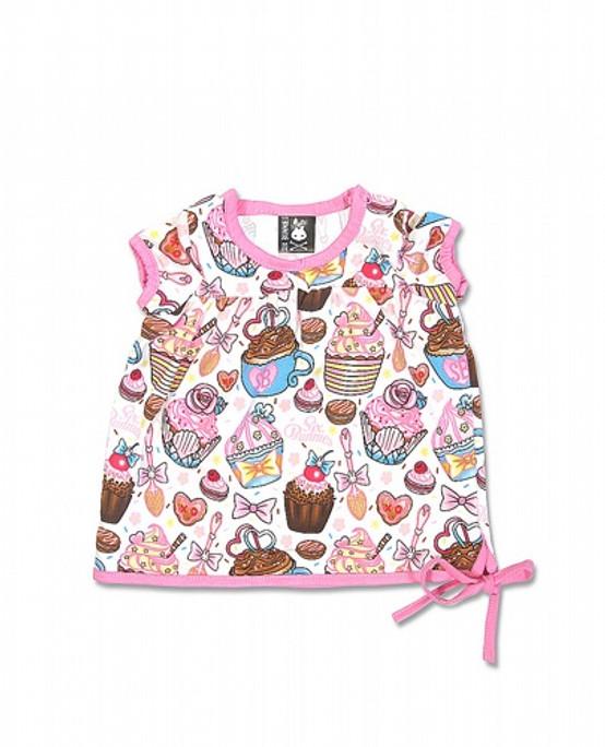 Six Bunnies Cupcakes Baby T-Shirt SB-BTS-00003-NCL