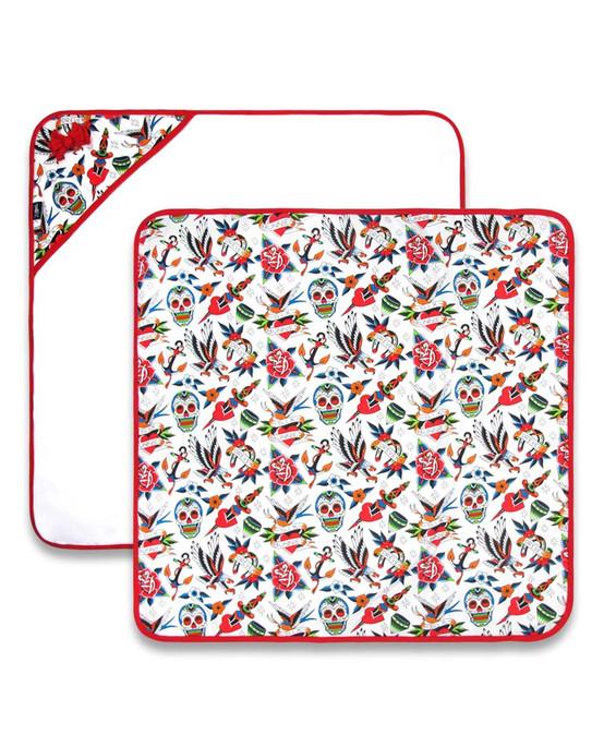 Six Bunnies Tattoo Shoppe Baby Blanket  SB-BBL-18002-NCL