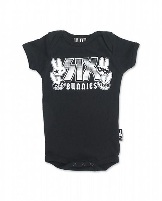 Six Bunnies Rockgroup Baby Romper  SB-ROP-00004-BLA