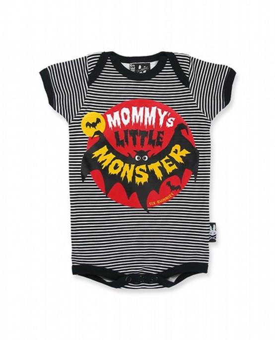Six Bunnies Mommy's Little Monster Baby Romper  SB-ROP-00014-SBK