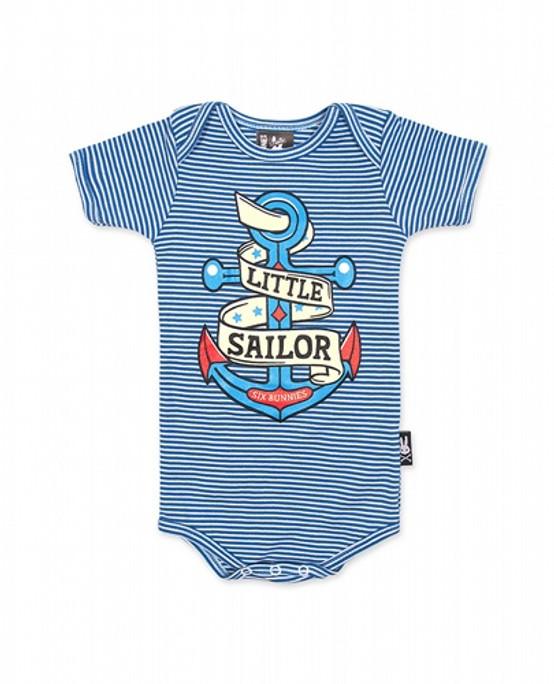 Six Bunnies Little Sailor Baby Romper  SB-ROP-00019-SBU
