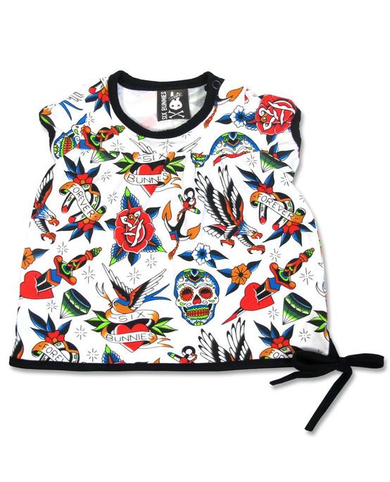 Six Bunnies Tattoo Shoppe Baby T-Shirt  SB-BTS-TATTOOSHOPPE