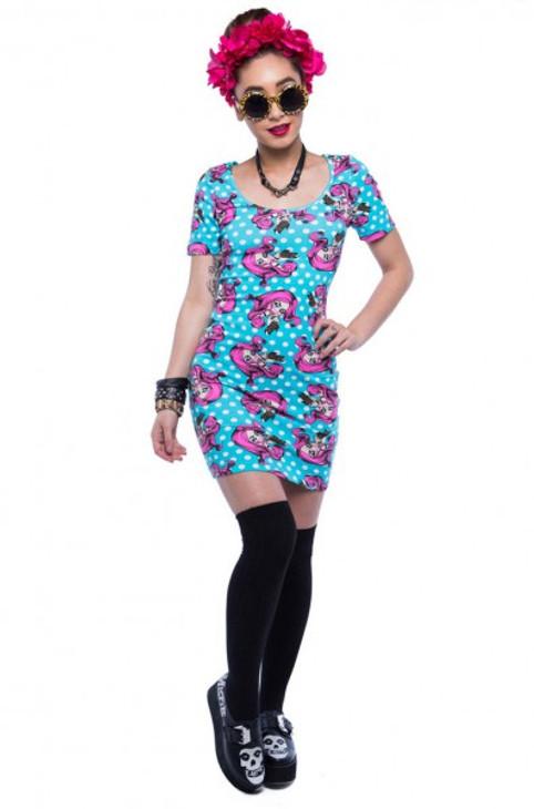 Iron Lezi Gore Bodycon Dress  IFL-DRS-3014