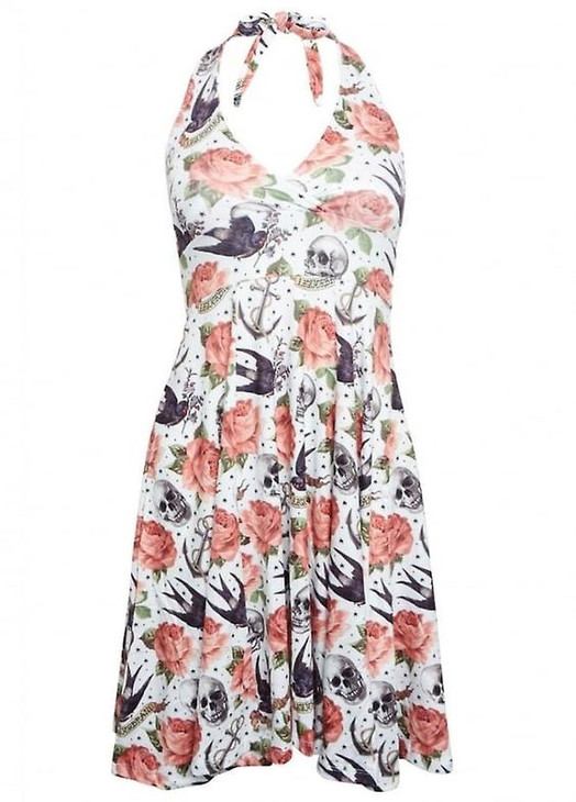 Liquor Brand Rose Tattoo Skater Dress  LB-DRE-RTM