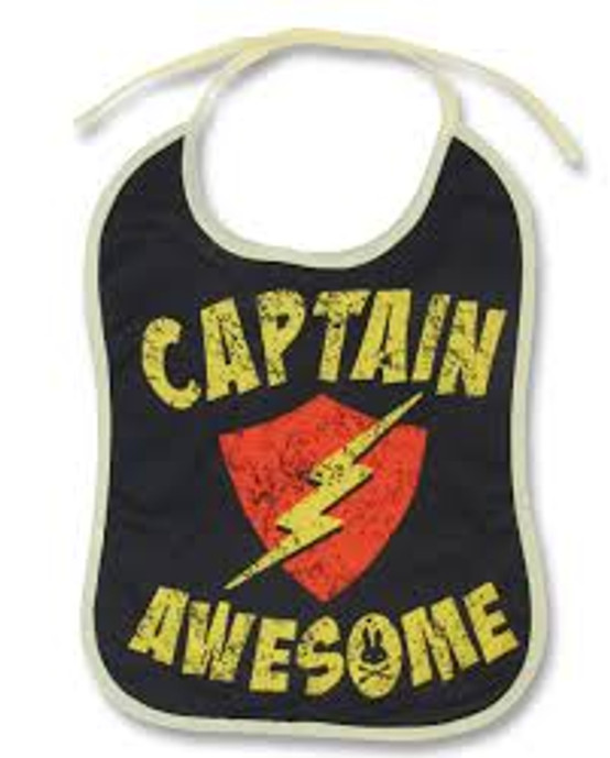Six Bunnies Captain Awesome Baby Bib  SB-BIB-CA