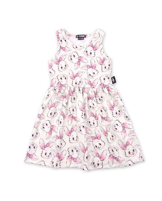 Six Bunnies Bunnies Kid's Dress  SB-KDR-19010