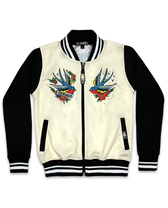Six Bunnies Old School Kid's Jacket  SB-KJK-00026