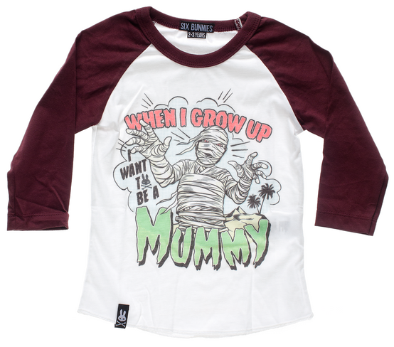Six Bunnies Mummy Kid's Raglan  SB-KRS-MUMMY
